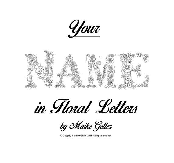 Name for coloring - printable digital, colouring pages, coloring ...