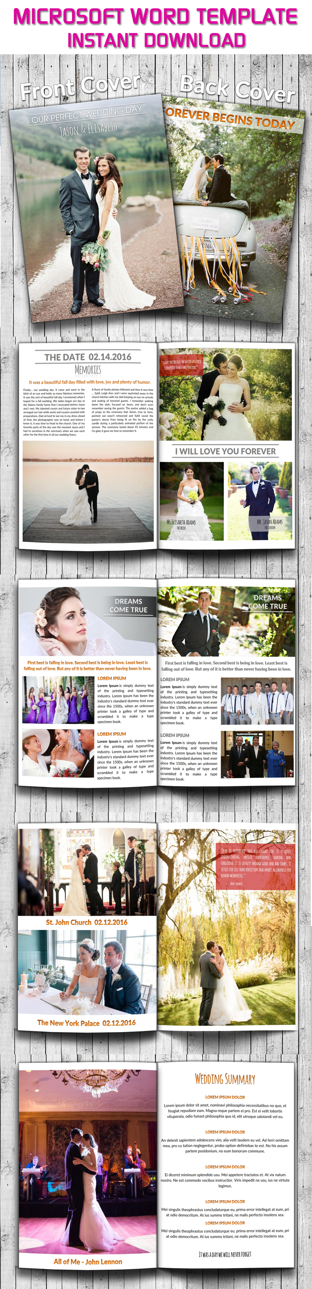 wedding photography magazine template 12 pages wedding