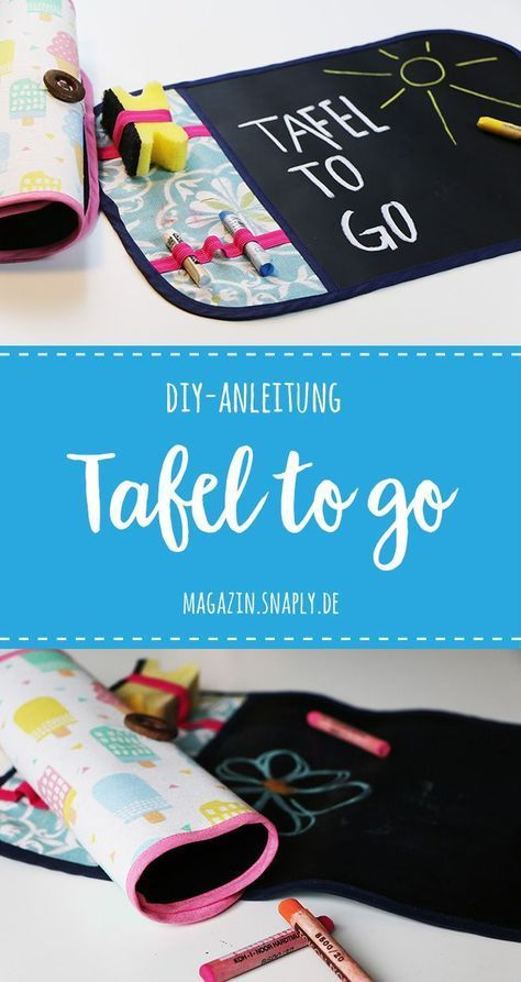 "Photo of ""Tafel to go"" aus Tafelstoff nähen – gratis Nähanleitung 