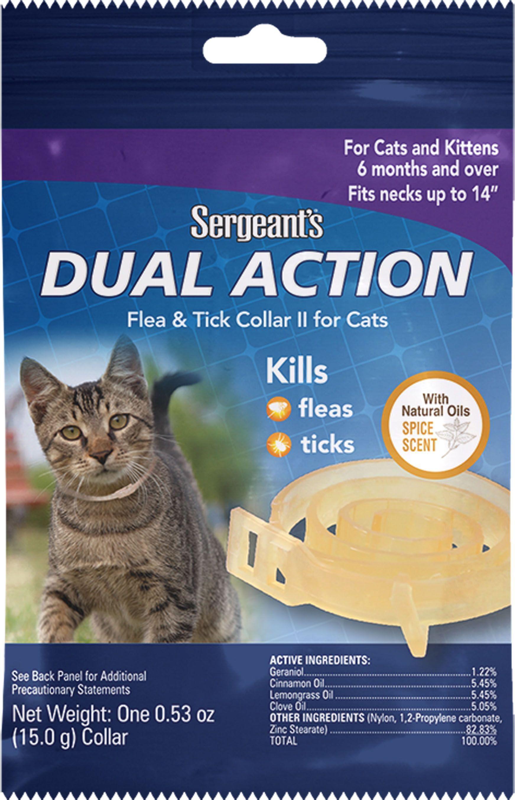 Cats Sergeants Dual Action Flea Tick Collar For Cats By Sergeants Pet Care Pro Cats Sergeants Dual Action Flea In 2020 Flea And Tick Cats And Kittens Fleas