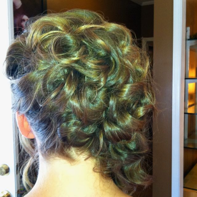 My hair for my brothers wedding :) Steel Magnolias