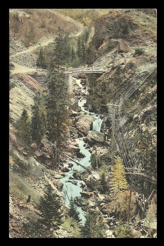 Silverton Ouray CO Postcard State Bridge Toll Road