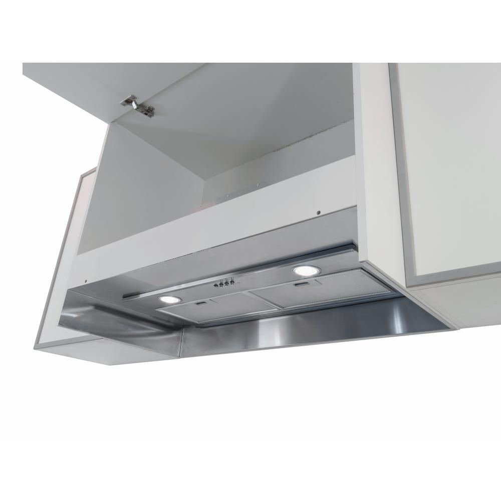 Arietta Argo 28 In Insert Range Hood In Stainless Steel Silver Stainless Steel Recirculating Range Hood Home Depot