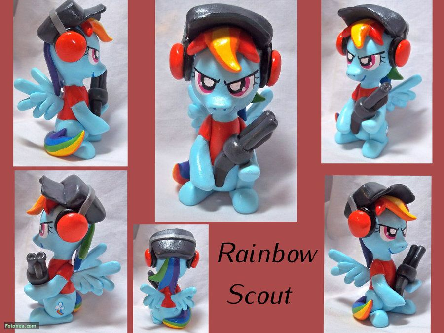 Rainbow Dash Scout Sculpt by CadmiumCrab.deviantart.com on @DeviantArt
