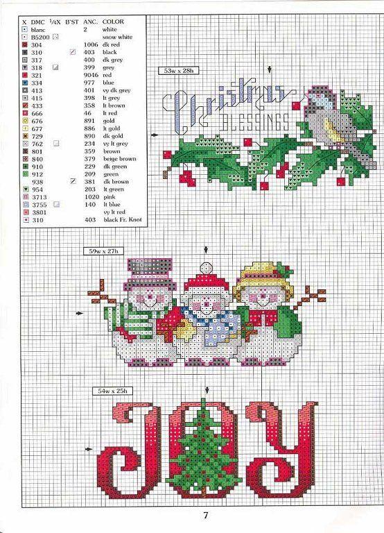 patrones punto cruz navidad | Punto croix | Pinterest | Punto de ...