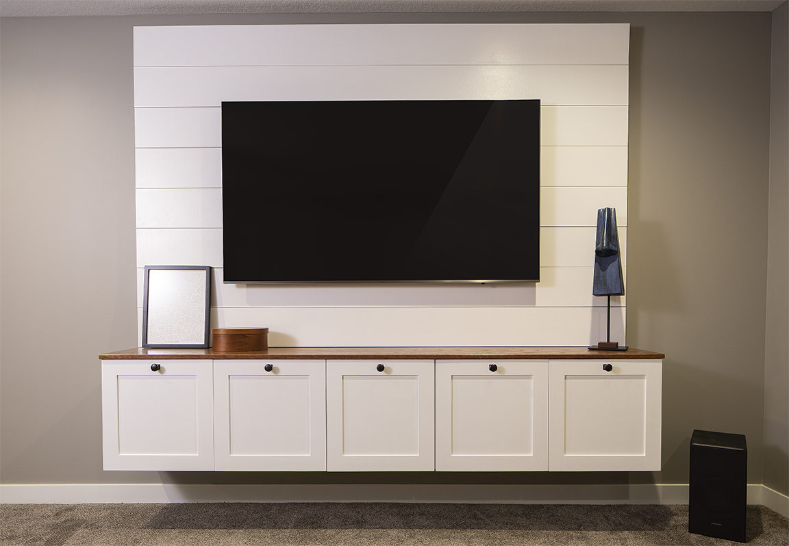Tv Wall Console Buildsomething Com Hiding Tv Cords On Wall Tv Wall Wall Mounted Tv Console