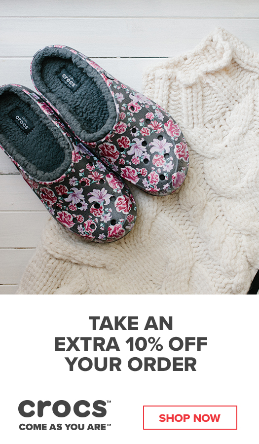 ce619db942f86 Get Extra Cozy In Our Crocs Fuzz Lined Shoes with an Extra 10% Off Your  Order When You Shop Now!
