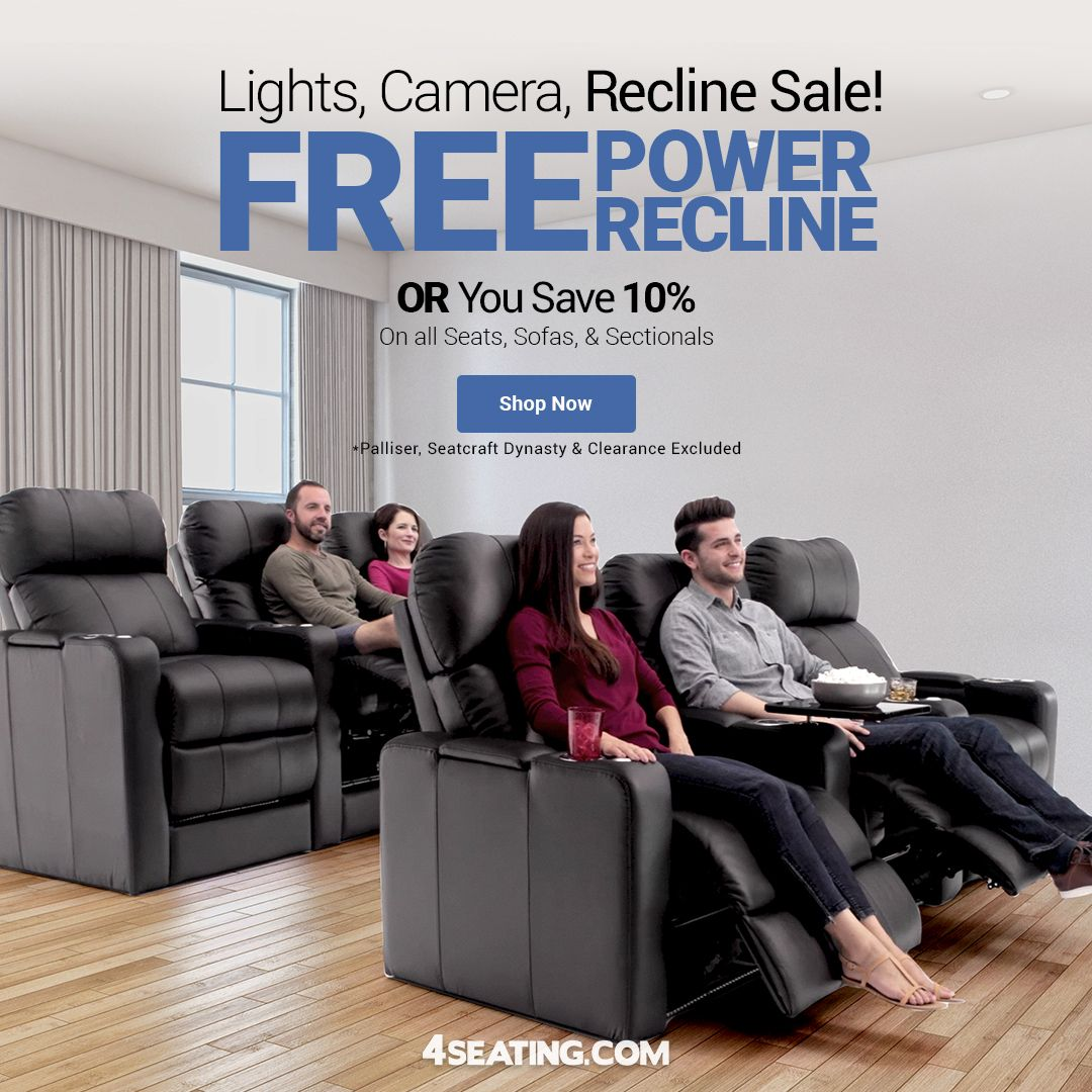 Add New Recline Seats To Your Home Theater For A More Comfortable Movie Viewing Experience Head Over T In 2020 Home Theater Seating Home Theater Decor Theater Seating