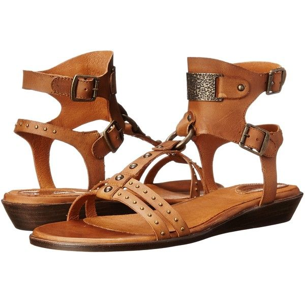 Ariat Oro Women's Sandals, Tan ($143) ❤ liked on Polyvore featuring shoes, sandals, tan, leather sandals, cushioned shoes, ariat shoes, tan sandals and polka dot sandals