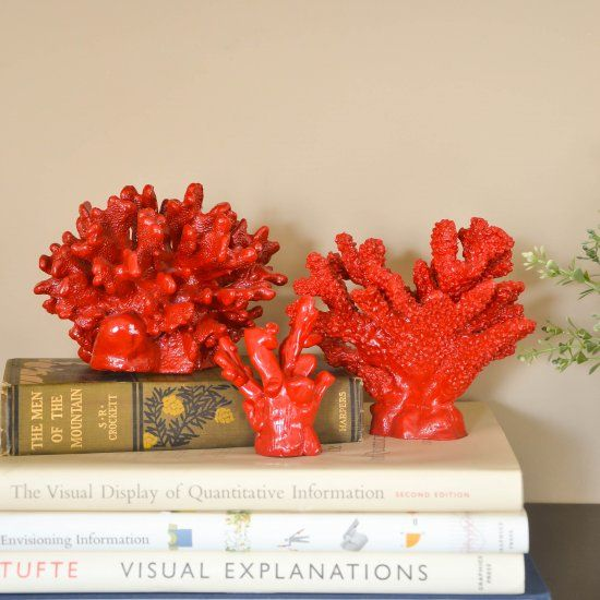Make your own faux coral from polymer clay or by spray for Aquarium decoration paint