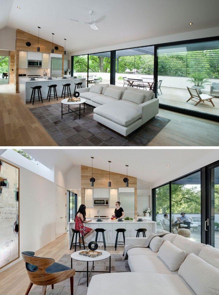 Offener Wohnraum Wohnbereich Küche Zugang Terrasse #traumhäuser #dream #home