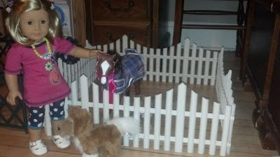 American Girl Doll Play: From Garden Fence to Horse Corral! #dollcare American Girl Doll Play: From Garden Fence to Horse Corral! #americangirlhouse