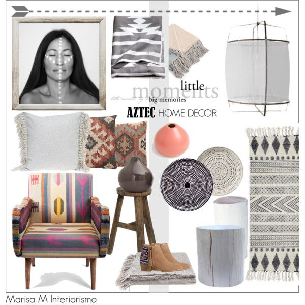 Merveilleux AZTEC HOME DECOR By Maria Felisa On Polyvore Featuring Interior, Interiors,  Interior Design