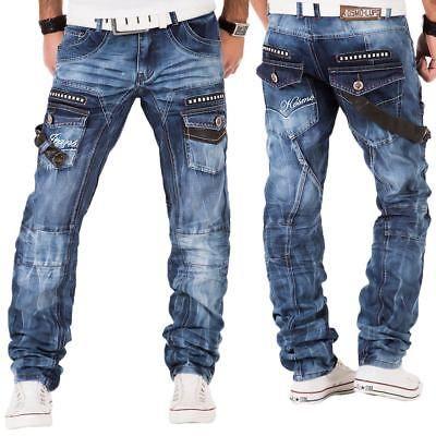 Details zu Kosmo Lupo Herren Jeans Hose Denim Japan Style Vintage Clubwear  Chino Used Blau | Japan style and Chinos