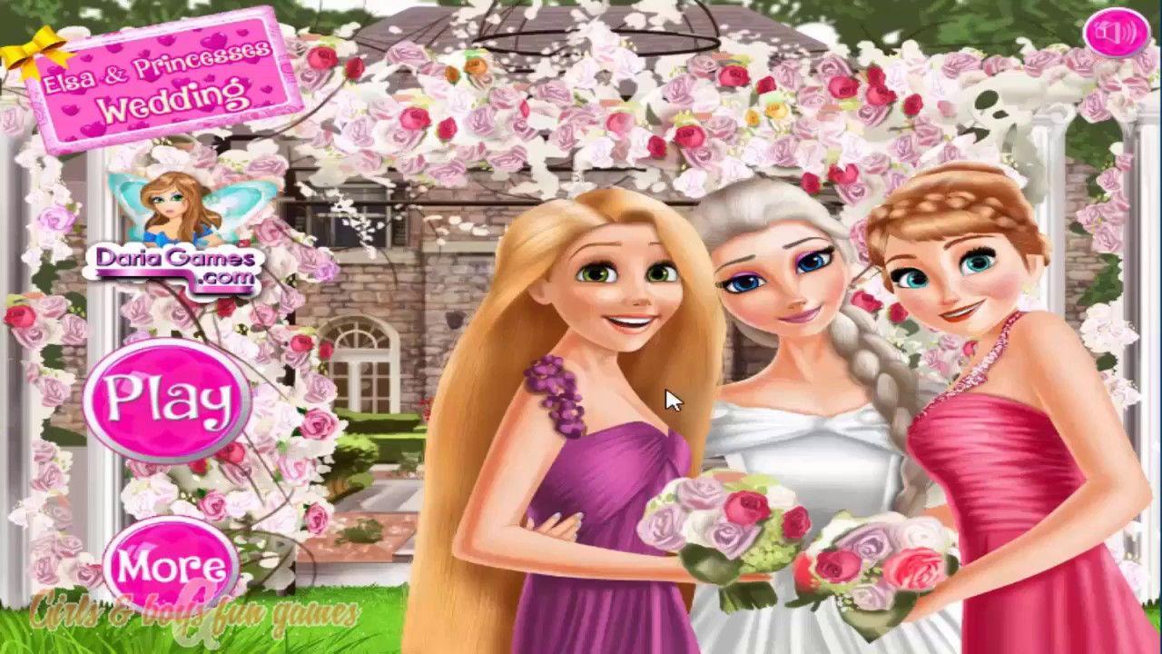 Disney Frozen Game - Queen Elsa Wedding Anna and Rapunzel ...