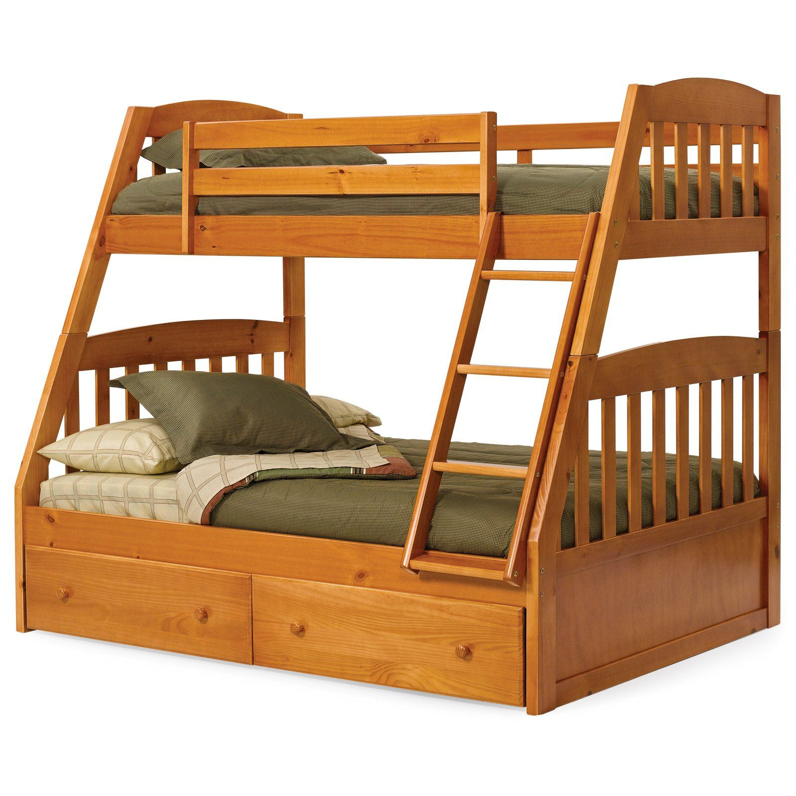 Have to have it. Logan Honey Mission Twin over Full Bunk Bed - $699.99 @hayneedle