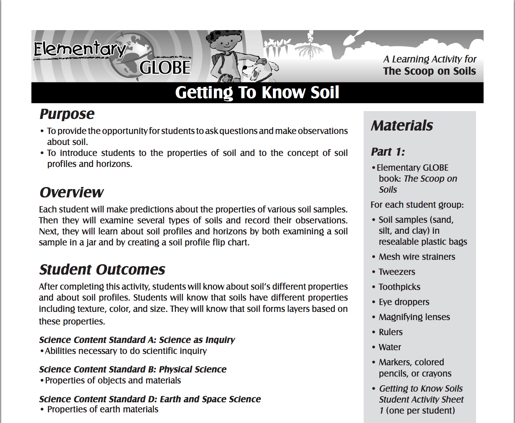 Getting To Know Soil This Free Activity Geared Towards