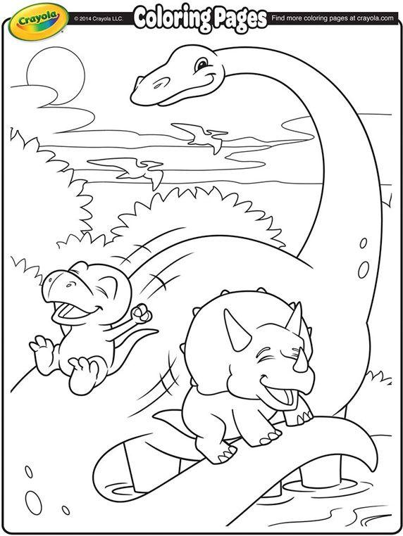 Brachiosaurus and Dinosaur Friends on crayola.com   Dibujos   Pinterest