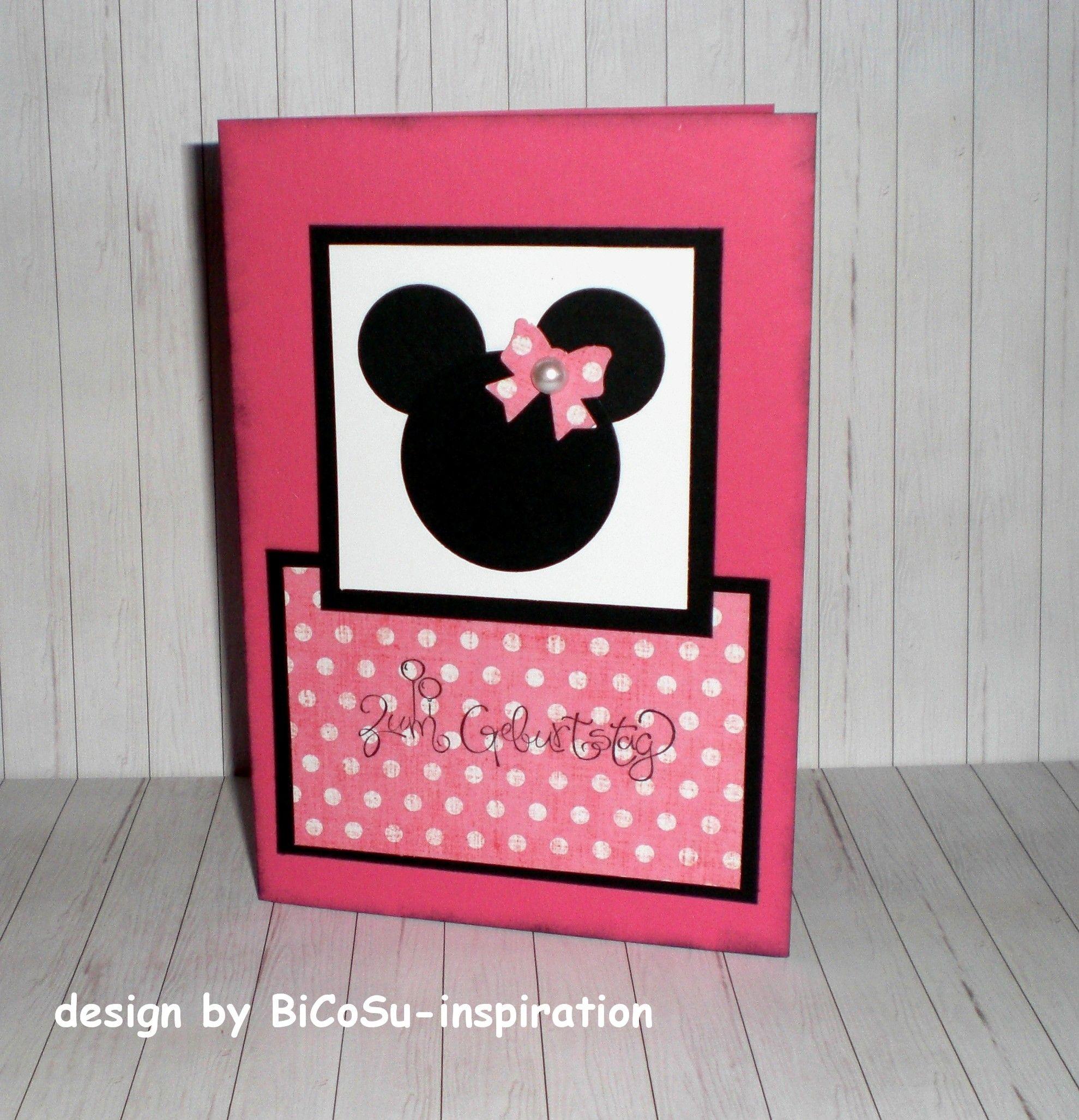 Punch Art Mini Mouse Cards / Geburtstagskarte kleine Maus