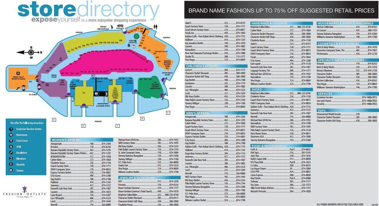 Fashion Outlets Of Las Vegas Shopping Plan Las Vegas Shopping Las Vegas Outlet Las Vegas