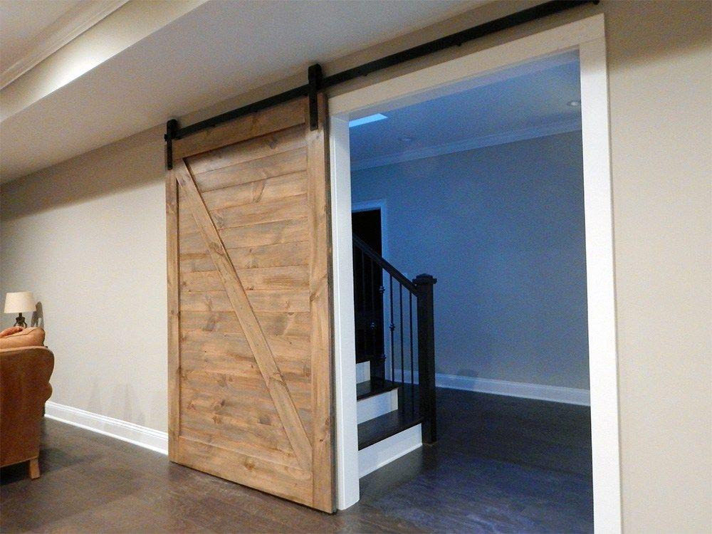 Horizontal Z Brace Plank Barn Door Interior Sliding Barn Doors