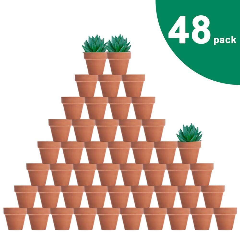 48 Pcs Tiny Terracotta Pots 2 Inch Small Mini Clay Pots With Drainage Holes Clay Drainage In 2020 Small Terracotta Pots Terracotta Pots Terra Cotta Pot Crafts