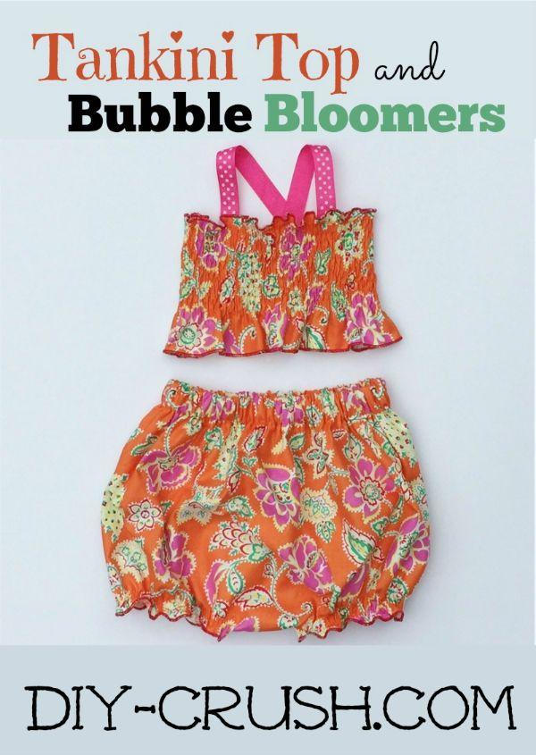 Free Tankini Top & Bloomers Sewing Pattern - DIY Crush Exclusive ...