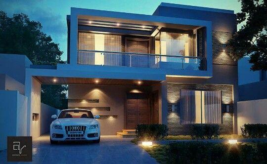 Elegante residencia de dos niveles.