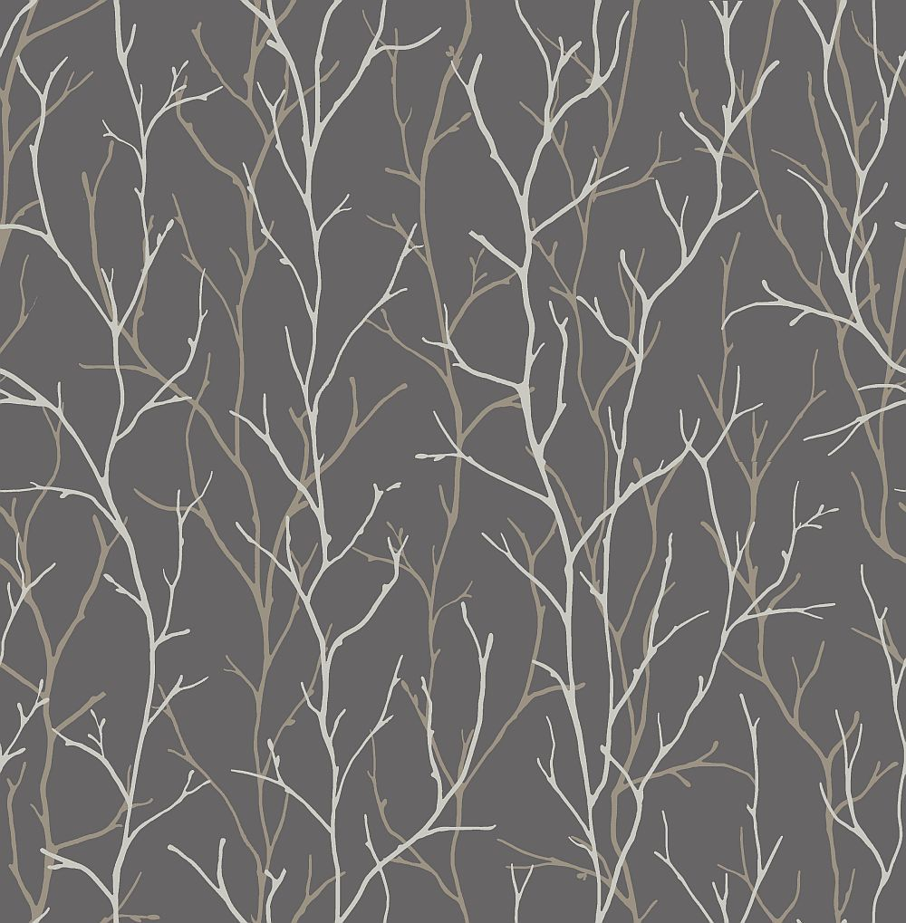 iliv Twig Silver Wallpaper main image Wallpaper lounge