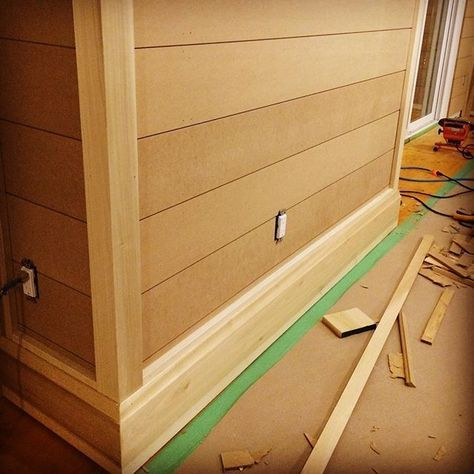 Sneak peak at #shiplap and the #trim going up! Will add shoe
