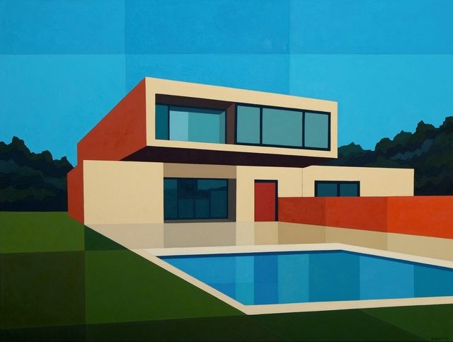 Andy Burgess | Cantilever Pool House (2016) | Available for Sale | Artsy
