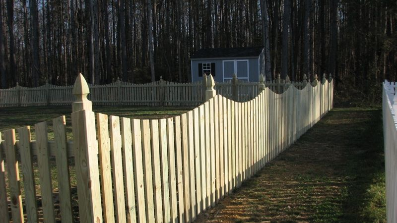 4 Concave Picket Wooden Fence With French Gothic Posts Wooden Fence Wood Fence Fence
