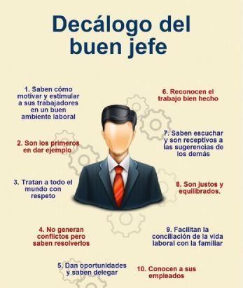 Decálogo Del Buen Jefe Rrhh Caracteristicas De Un Jefe
