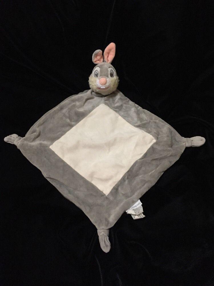 d6ca908a4 Disney Baby Thumper Bunny Security Blanket Gray Cream Lovey ...