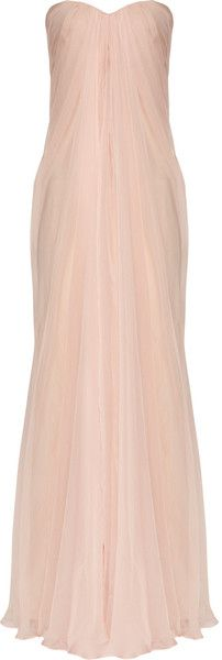 "Love at first sight! Rachel Gilbert ""SHOWSTOPPER"" Silk-chiffon Bustier Gown     dressmesweetiedarling"