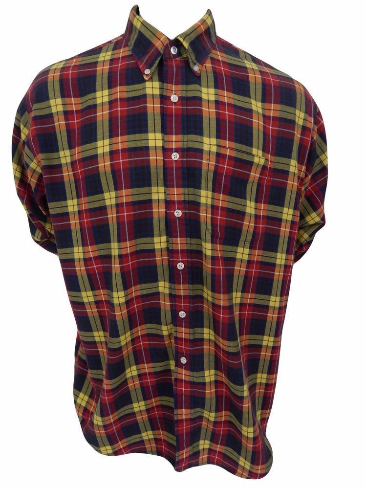 J Crew Shirt Size XL Button Front Long Sleeve Plaid #JCrew #ButtonFront