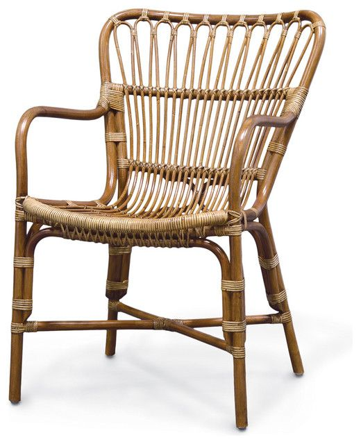 Captivating Rattan Dining Arm Chairs
