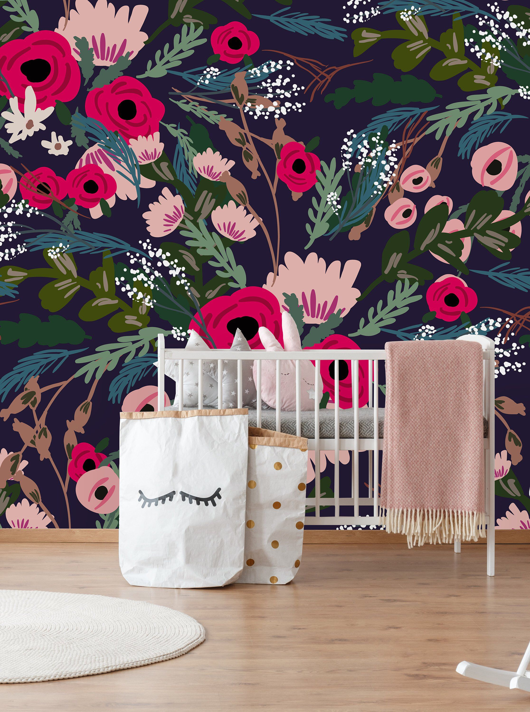 Removable Wallpaper Peel And Stick Wallpaper Self Adhesive Etsy Peal And Stick Wallpaper Removable Wallpaper Kids Room Murals