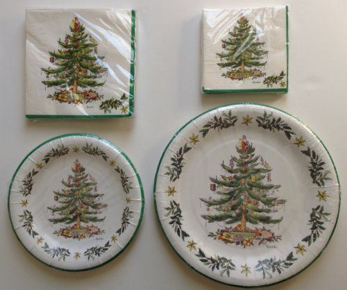 Spode Christmas Tree Paper Plates And Napkins Party Pack For 8 People Http Www Amazon Com Dp B00a8lr8t Spode Christmas Spode Christmas Tree Christmas Plates