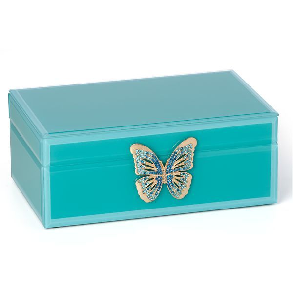 Turquoise butterfly jewelry box Home Finds Pinterest Butterfly
