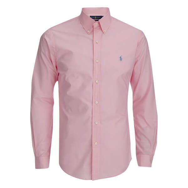 c6f12346 Polo Ralph Lauren Men's Long Sleeve Button Down Shirt - Pink ($125) ❤ liked  on…