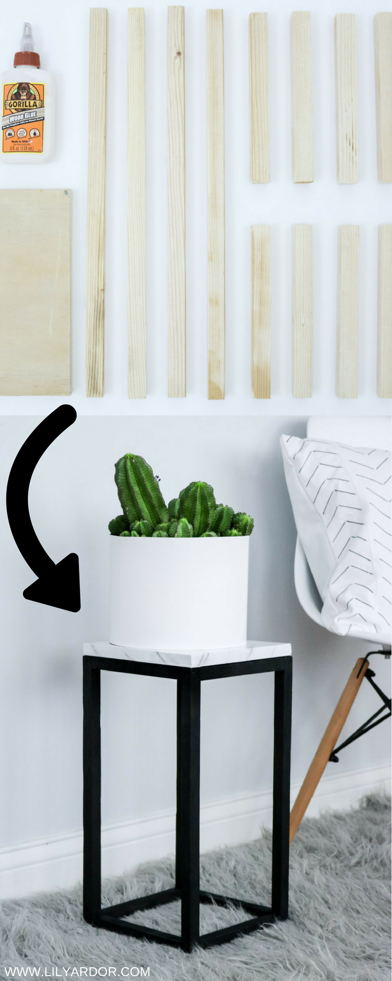 Diy Plant Stand Easy Faux Marble Effect Diy Plant Stand Plant Stand Diy Plants