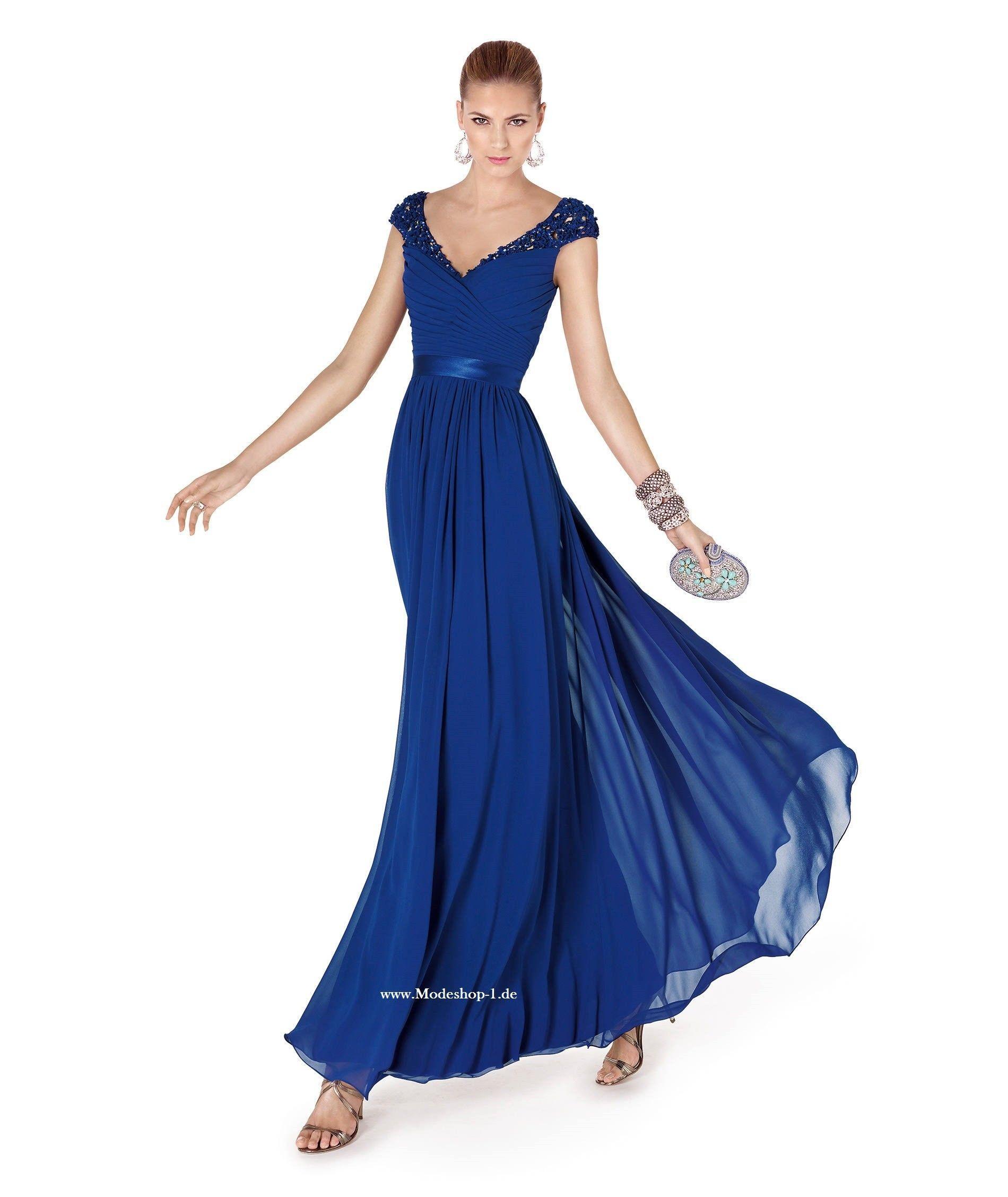 Abendkleider 12 Dunkelblaues Abendkleid mit V Dekollette Online