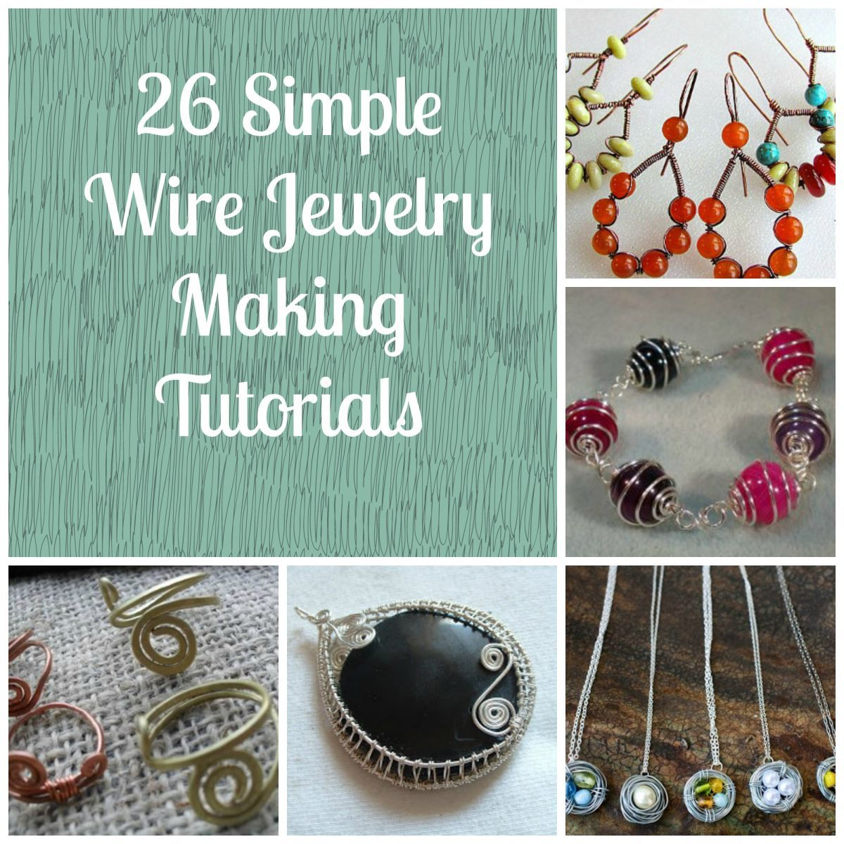 54 Simple Wire Jewelry Making Tutorials | Crochet wire jewelry ...