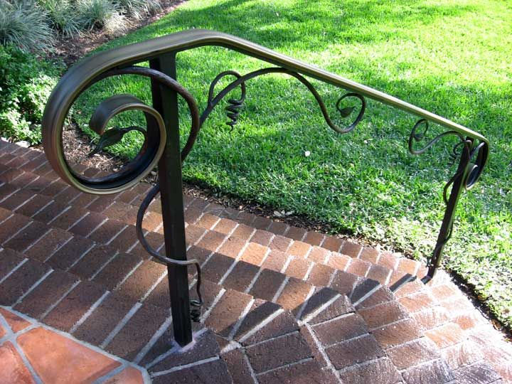 High Resolution Outdoor Metal Stair Railing 5 Outdoor Metal Stair | Outside Metal Stair Railing | Steel | Concrete | Steel Handrail | Porch | Outdoor Stair