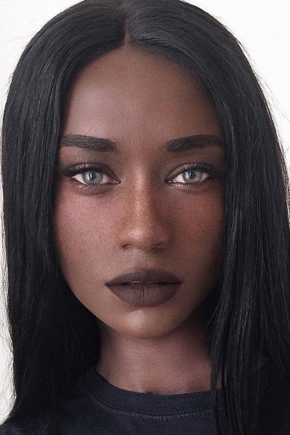 61 Best Bee (@melvnin) images | Black beauties, Dark skin, Hair styles