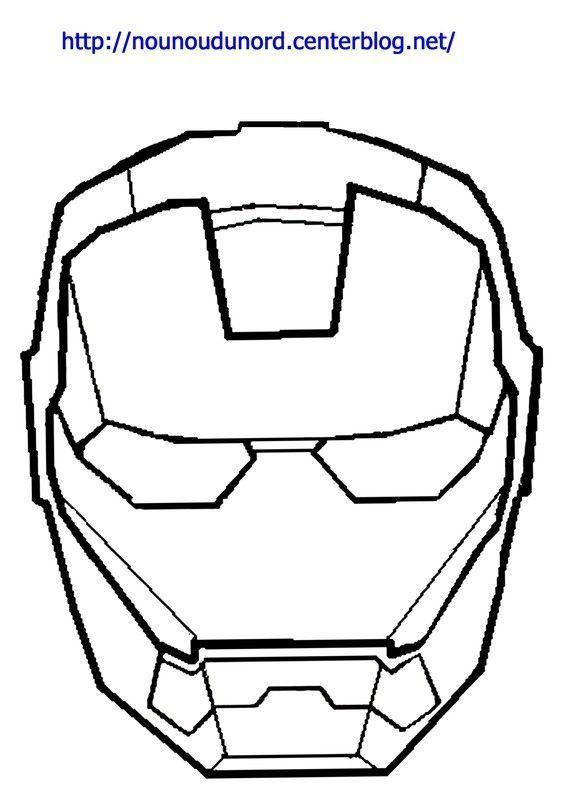 Masque Iron Man à Imprimer вечеринка в стиле супергероев