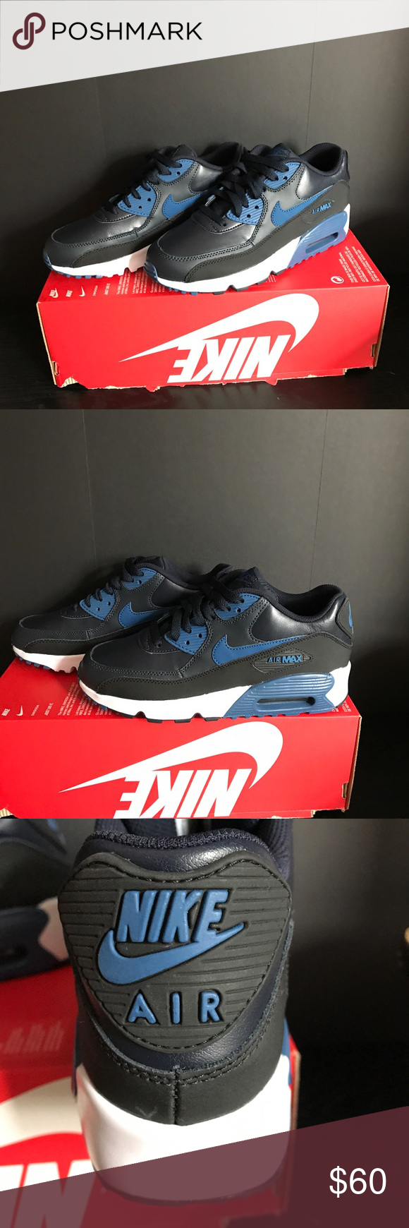 Nike Air Max 90 LTR GS SIZE 6.5 Y Nike Air Max 90 LTD - Navy