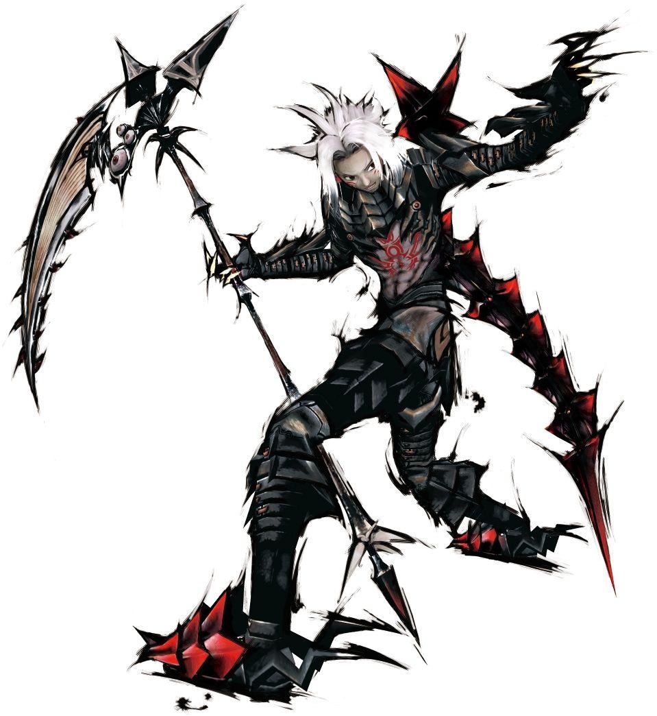 Cool scythe, armor's too angular, but cool Character art