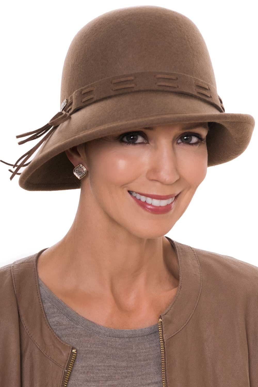 037eda3b Chestnut Felt Cloche Hat | Wool Hats for Women in 2019 | Dressy Hats ...